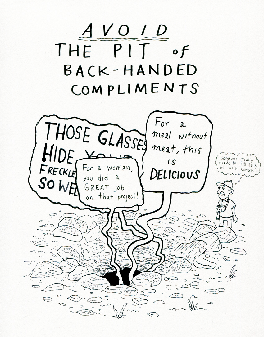 The Pit of Back-Handed Compliments