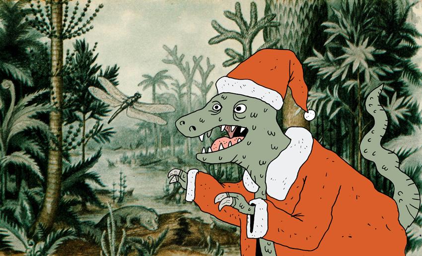 Jurassic Santa